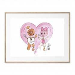 "TIRAGE D'ART ""MR GINGERBREAD & MRS SWEET"""